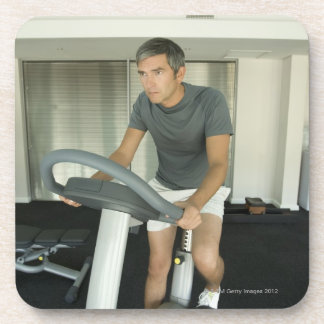 Man working out in a gym 2 coaster