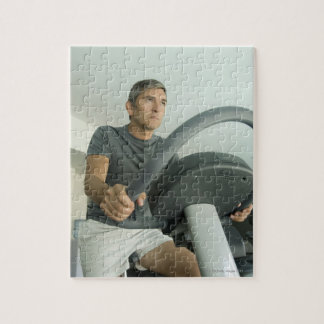 Man working out in a gym jigsaw puzzle