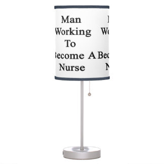 Man Working To Become A Nurse Desk Lamps