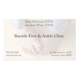man worried about his feet business card