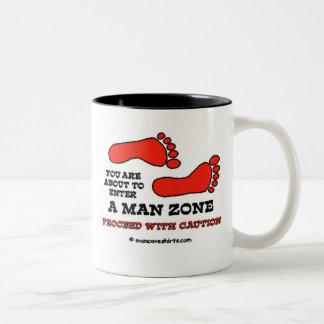 Man Zone Two-Tone Coffee Mug