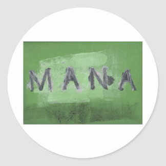 Mana ( green) classic round sticker
