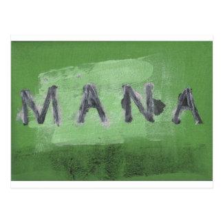 Mana ( green) postcard
