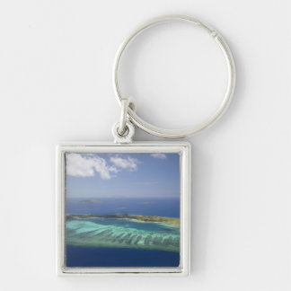 Mana Island and coral reef, Mamanuca Islands Keychain