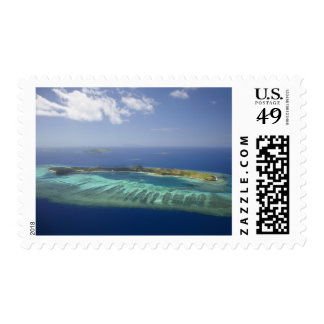 Mana Island and coral reef, Mamanuca Islands Postage
