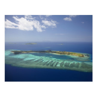 Mana Island and coral reef, Mamanuca Islands Postcard
