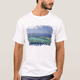 Mana Island and coral reef, Mamanuca Islands T-Shirt