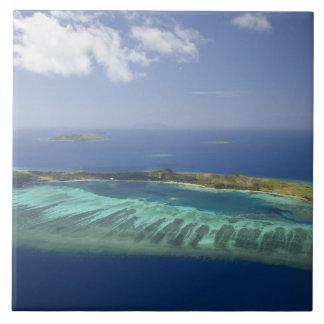 Mana Island and coral reef, Mamanuca Islands Tile