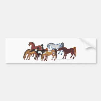 manada céltica del caballo pegatina para auto