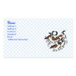 Manada de gansos tarjetas de visita
