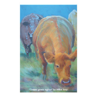 Manada de la pintura vibrante coloreada de las vac papelería personalizada