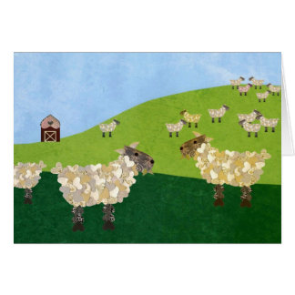 Manada de las ovejas tarjeta de felicitación
