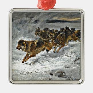 Manada de lobos corriente ornamente de reyes