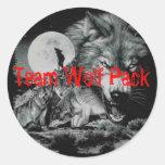 Manada de lobos del equipo etiquetas