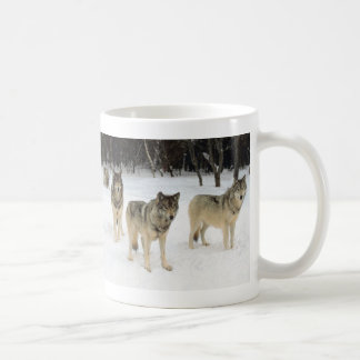 Manada de lobos taza básica blanca