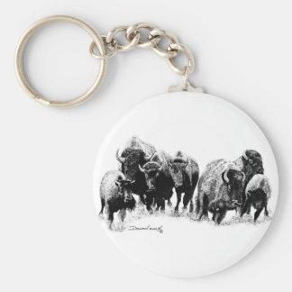 Manada del búfalo llaveros