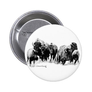 Manada del búfalo pins