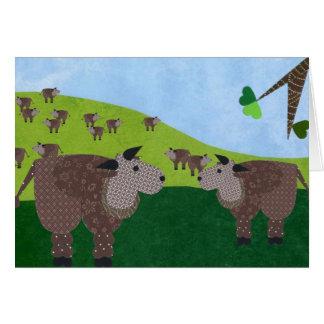 Manada del búfalo tarjeta de felicitación