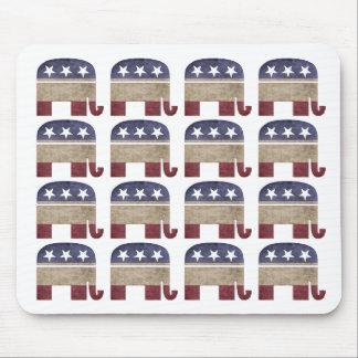 Manada del GOP republicano de los elefantes Tapetes De Ratón