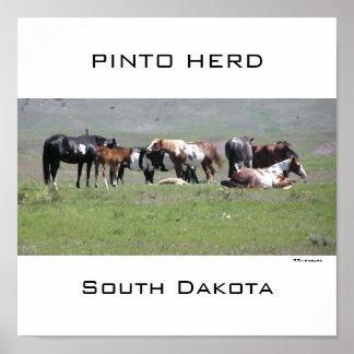 Manada del Pinto Dakota del Sur Impresiones