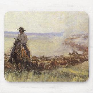 Manada del rastro a Wyoming por WHD Koerner Alfombrillas De Ratón
