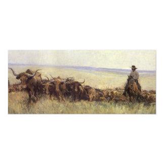 Manada del rastro a Wyoming por WHD Koerner Invitaciones Personales
