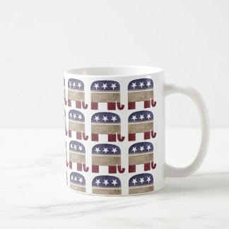 Manada del republicano del GOP de los elefantes Taza De Café
