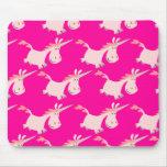 ¡Manada rosada linda del unicornio del dibujo anim Tapetes De Raton