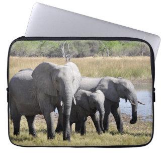 Manadas del elefante de África Fundas Computadoras