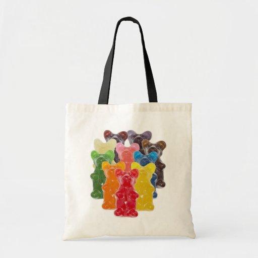 Manadas gomosas lindas divertidas del oso bolsa de mano