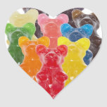 Manadas gomosas lindas divertidas del oso calcomania corazon