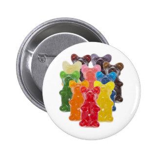 Manadas gomosas lindas divertidas del oso pin redondo de 2 pulgadas