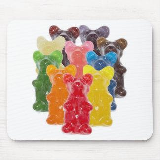 Manadas gomosas lindas divertidas del oso tapetes de raton