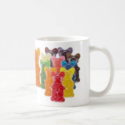Manadas gomosas lindas divertidas del oso tazas