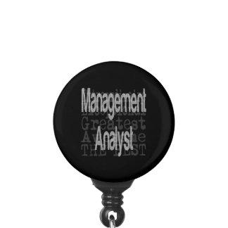 Management Analyst Extraordinaire Badge Holder