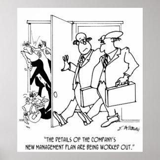 Management Cartoon 7209 Poster