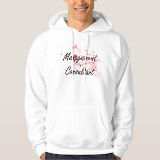 Management Consultant Artistic Job Design with Hea Hooded Pullover