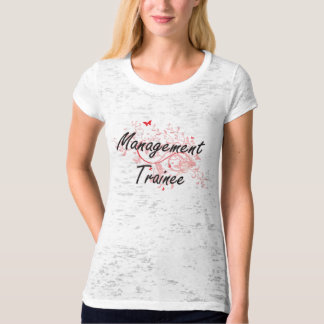 Management Trainee Artistic Job Design with Butter T-Shirt