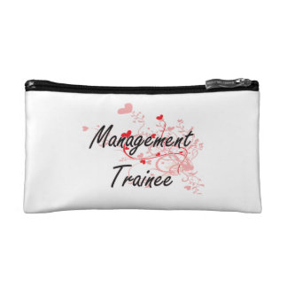Management Trainee Artistic Job Design with Hearts Makeup Bags