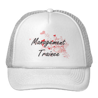 Management Trainee Artistic Job Design with Hearts Trucker Hat