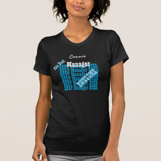 MANAGER Awesome BLUE Text V01A T-Shirt