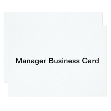 Professional Business manager business card invitation flat card