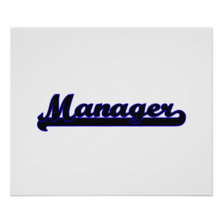 Manager Classic Job Design Poster