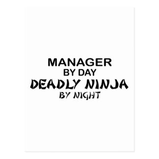 Manager Deadly Ninja by Night Post Cards