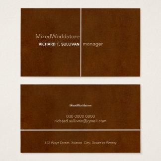 manager elegant & modern old-brown business card