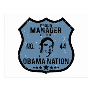 Manager Obama Nation Post Card
