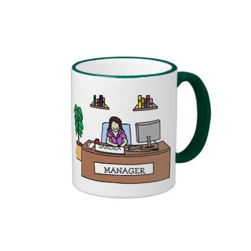 Manager - personalized cartoon mug