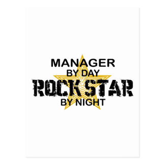 Manager Rock Star by Night Post Card