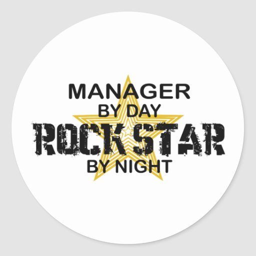 Manager Rock Star by Night Sticker
