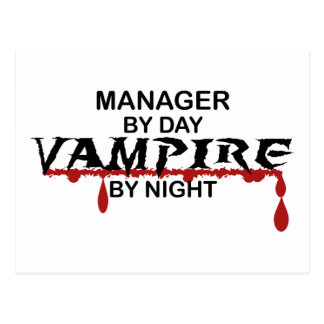 Manager Vampire by Night Post Card